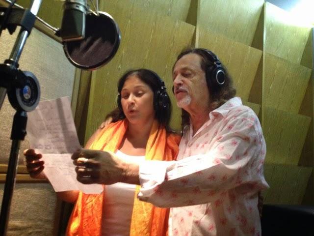 Fafá e Alceu, na gravação do frevo-canção - Foto: Divulgação