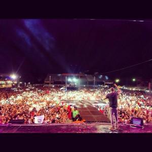 Show lotado do cantor Thiaguinho no dia 10 de outubro em Belém (PA) - Foto: Facebook