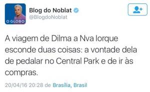 Colunista das Globos insiste na velha e puída crítica misogina