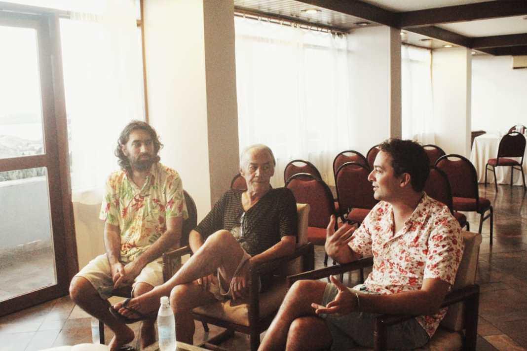 Léo Garcia, Sapiran Brito e Zeca Brito. Foto: Juliana Costa