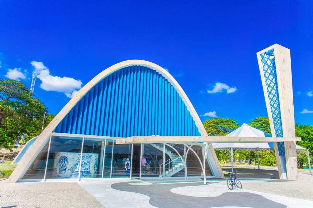 A igreja da Pampulha, projetada por Oscar Niemeyer, que foi restaurada