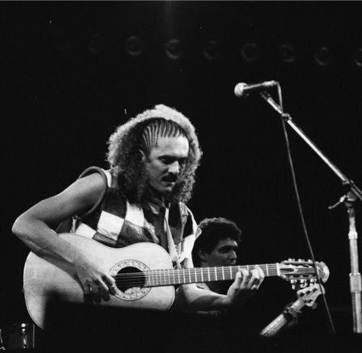Moraes Moreira no Rock in Rio de 1985. Foto: Facebook Moraes Moreira. Reprodução
