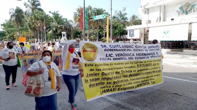 desaparecidos realizan movilizaciones en Veracruz