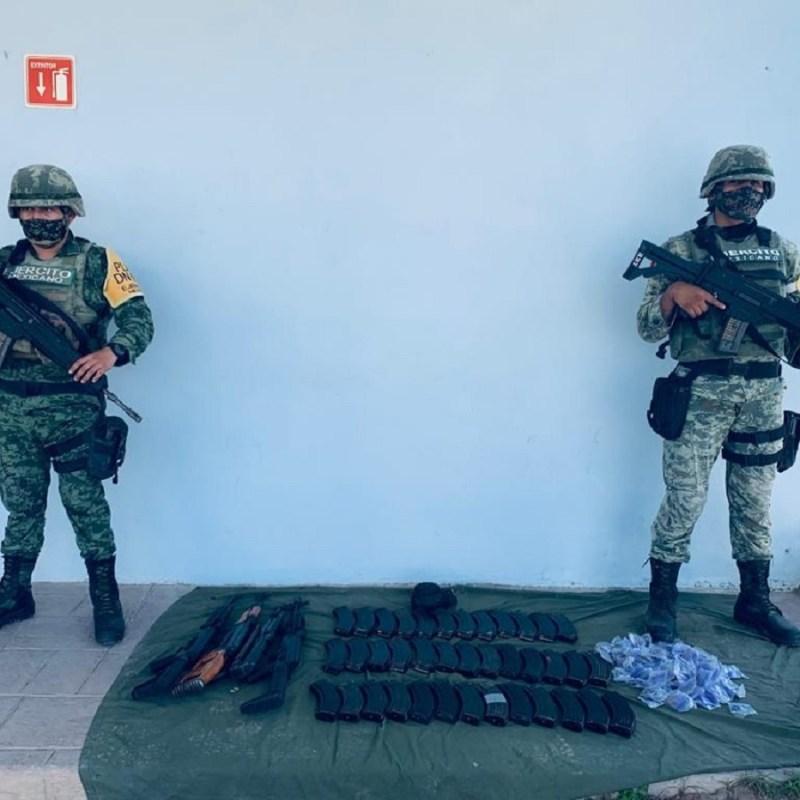 Aseguraron droga en Río Bravo Tamaulipas