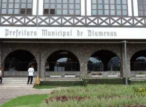 Praça do Cidadão - foto da Prefeitura de Blumenau