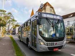 Ônibus do transporte coletivo de Blumenau - foto da BluMob