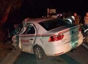 Acidente causa morte de homem na BR-470 (Judson Lima - Plantão de Butuca)