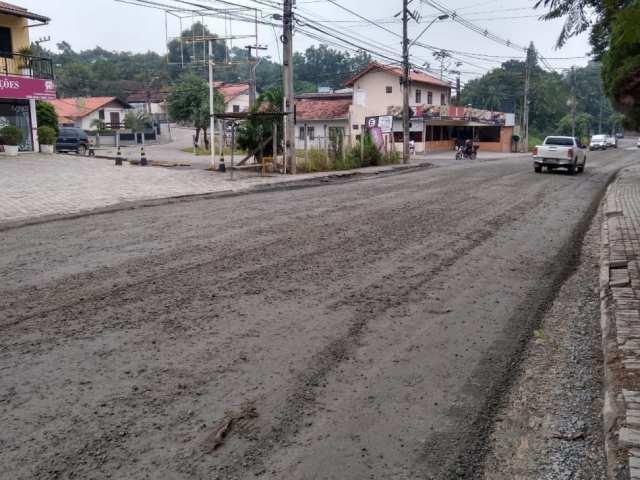 Recomposição do trecho em obras da Rua General Osório - foto da Prefeitura de Blumenau