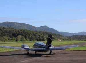 R$ 4 milhões serão usados para obras de balizamento noturno e cercamento do Aeroporto de Blumenau - foto de Marcelo Martins