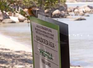 Praia em Santo Antônio de Lisboa, em Florianópolis, é um dos pontos próprios para banho, conforme o IMA - foto de James Tavares/Secom