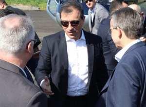 Governador Carlos Moisés em visita a Blumenau em setembro - foto de Marcelo Martins