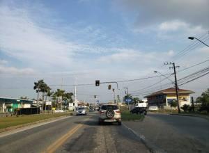 Semáforo na Rua Dr. Pedro Zimmermann - foto de Jaime Batista