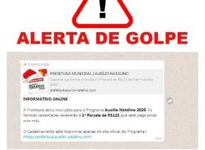 """Alerta para golpe de """"auxílio natalino"""""""