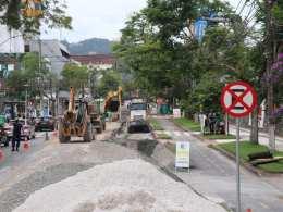 Obras na Alameda Rio Branco - foto de Marcelo Martins