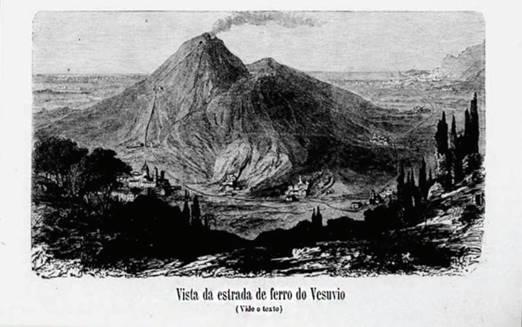 VESÚVIO - ilustração Brasileira. Imagem do Diário do Rio de Janeiro, 15 de julho de 1876.