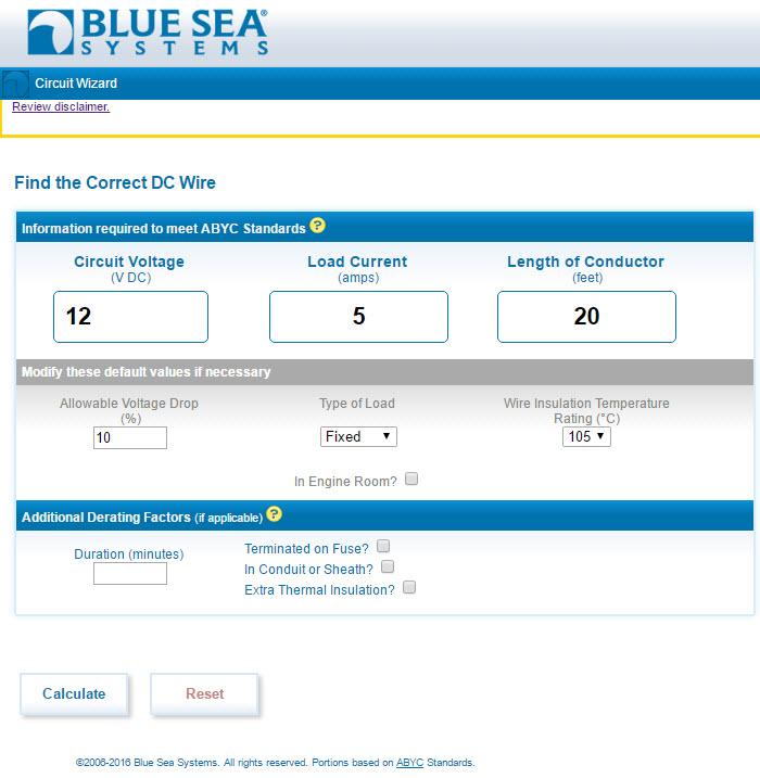 Blue Sea Inputs