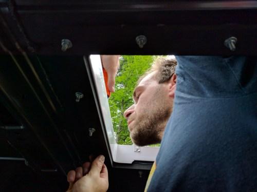 Maxxair Fan Installation, install screws