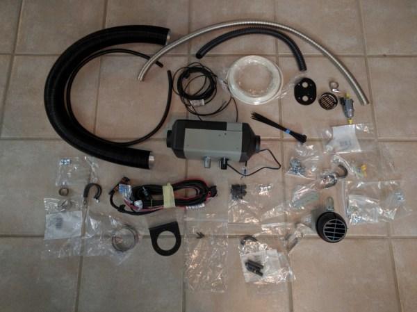 Van Conversion Webasto Air Heater, Material