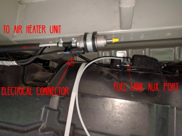 Van Conversion Webasto Air Heater, fuel pump