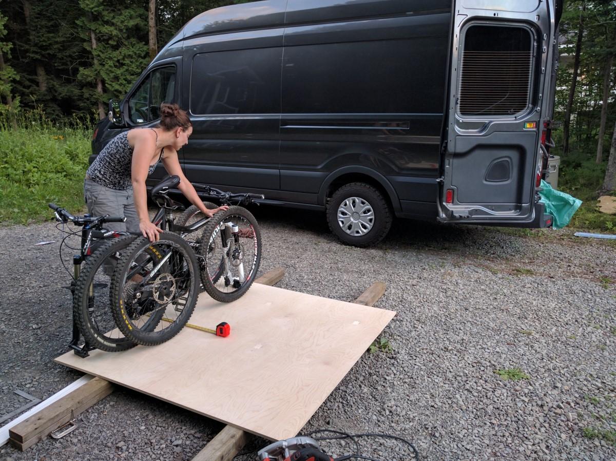 Slide-Out Bike Rack: How-To Build Guide for DIY Camper Van