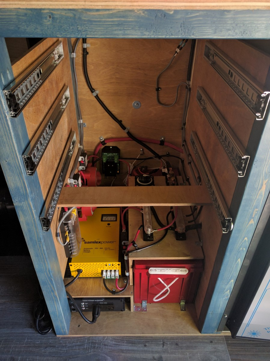 Electrical System Installation Faroutride For A Class Motorhome Where Part Of The Van Conversion 15