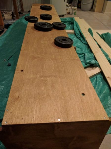 Overhead Storage Cabinet Camper Van Conversion (18)