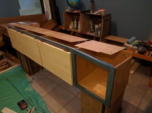 Overhead Storage Cabinet Camper Van Conversion (25)