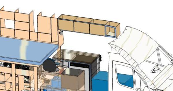 3D Model Overhead Storage