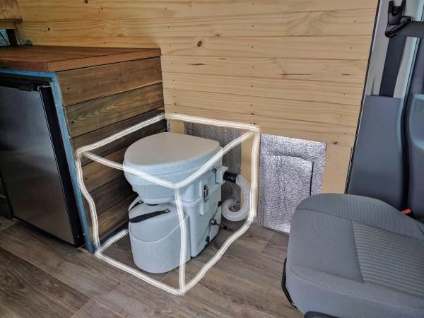 Composting Toilet Installation Camper Van Conversion (1)
