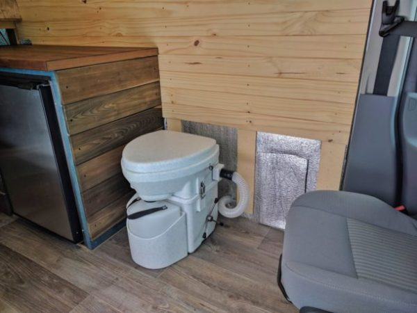 Composting Toilet Installation Camper Van Conversion (20)