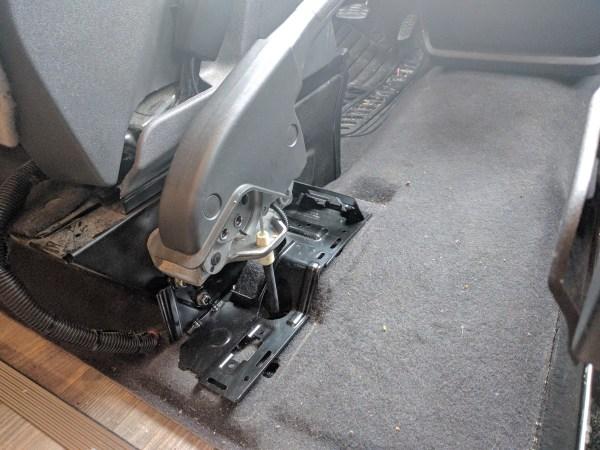 Ford Transit Driver Side Swivel Installation (14)