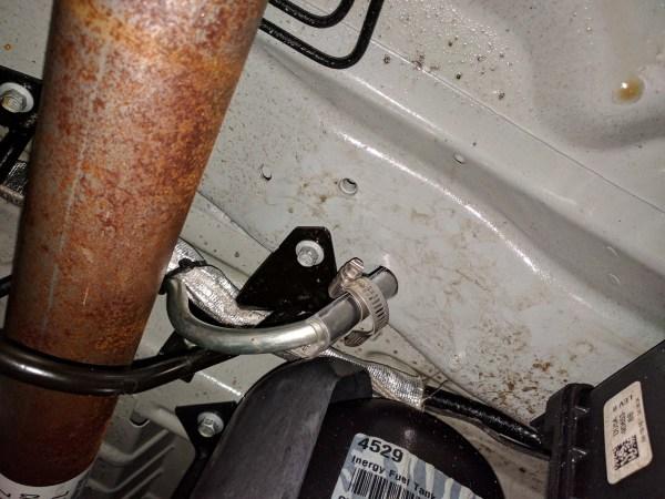 Ford Transit Driver Side Swivel Installation (9)