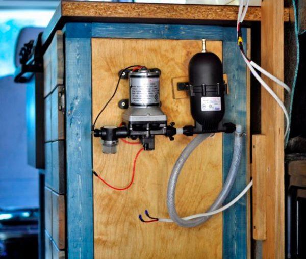 Water System Installation Camper Van Conversion (10)