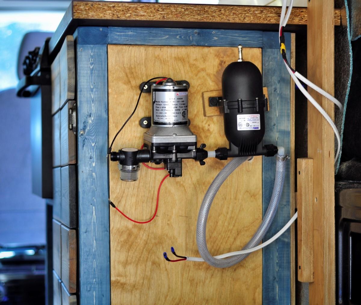 Water System Installation Camper Van Conversion 10