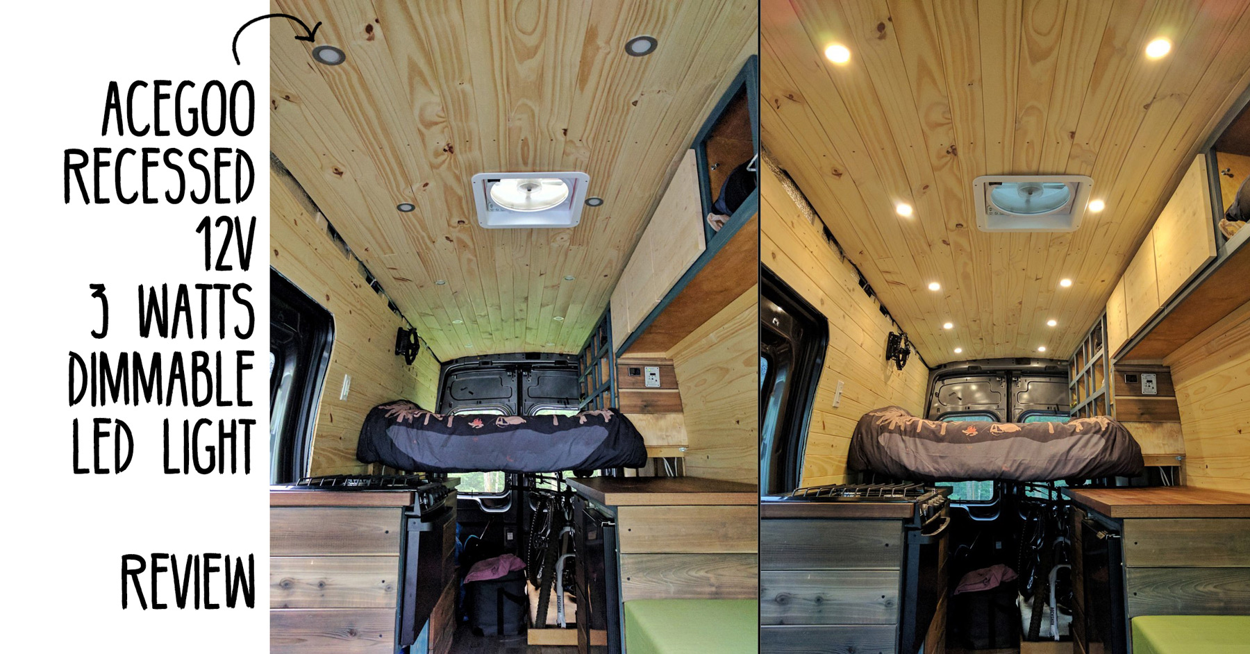 Recessed Ceiling LED Lights for Van Conversion  FarOutRide