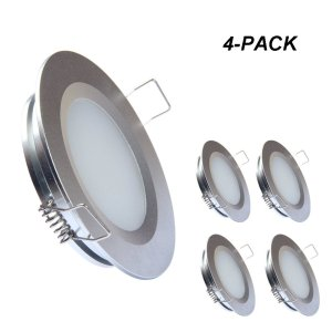 acegoo Recessed Ceiling Light LED 12V 3W, Warm White (Silver)