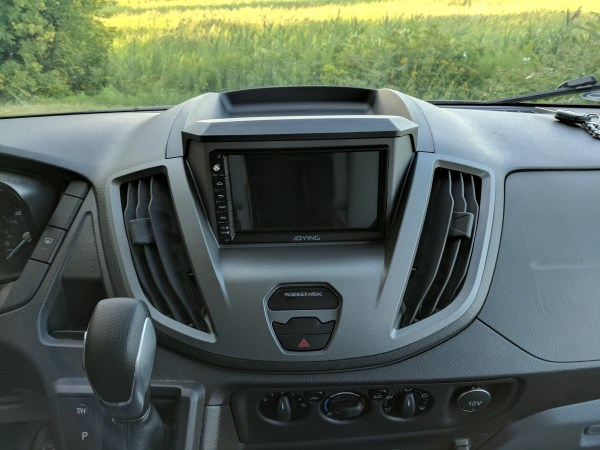 Ford Transit Radio Upgrade DDIN Joying Android (1)