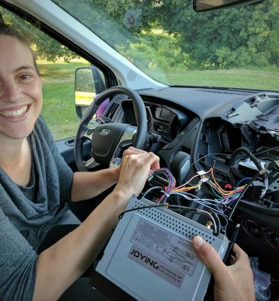 Ford Transit Radio Upgrade DDIN Joying Android (22)