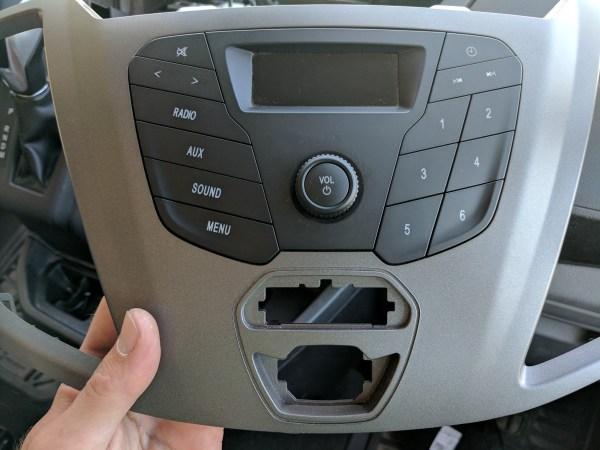 Ford Transit Radio Upgrade DDIN Joying Android (8)