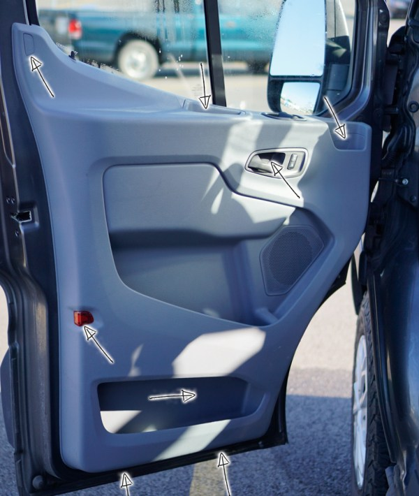 Ford Transit Speakers Upgrade - 8 screws