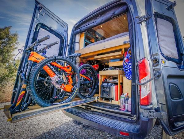Slide-Out Bike Rack Van