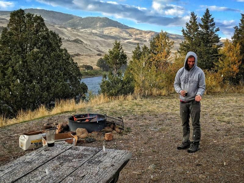 Yellowstone Carbella Recreation Site Free Campsite Hail