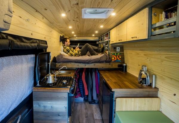 Campervan Conversion Raised Bed