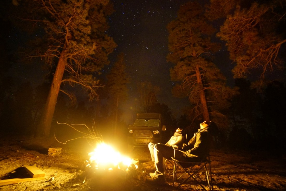 Grand Canyon Free Campsite Geminid Meteo Shower