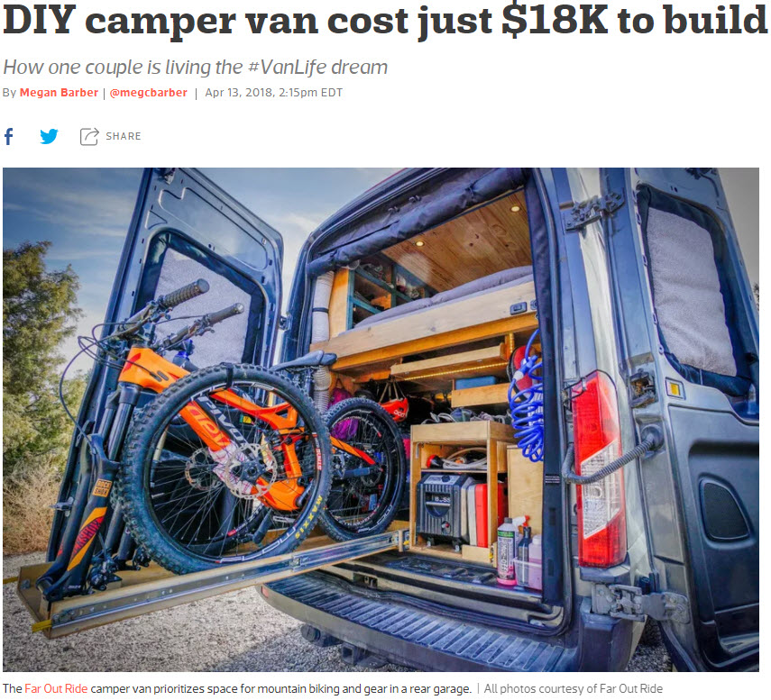 DIY Camper Van Cost Just 18K To Build
