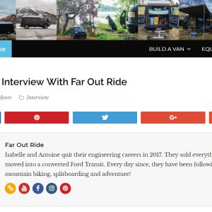Parked In Paradise, Faroutride Interview