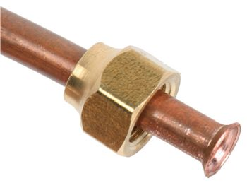 Flared Copper Tubing.