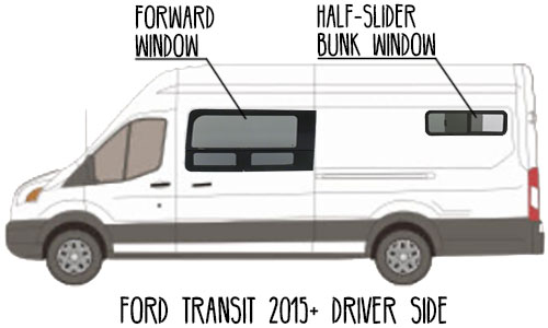 Aftermarket-CRL-Window-Ford-Transit-Van,-Driver-side