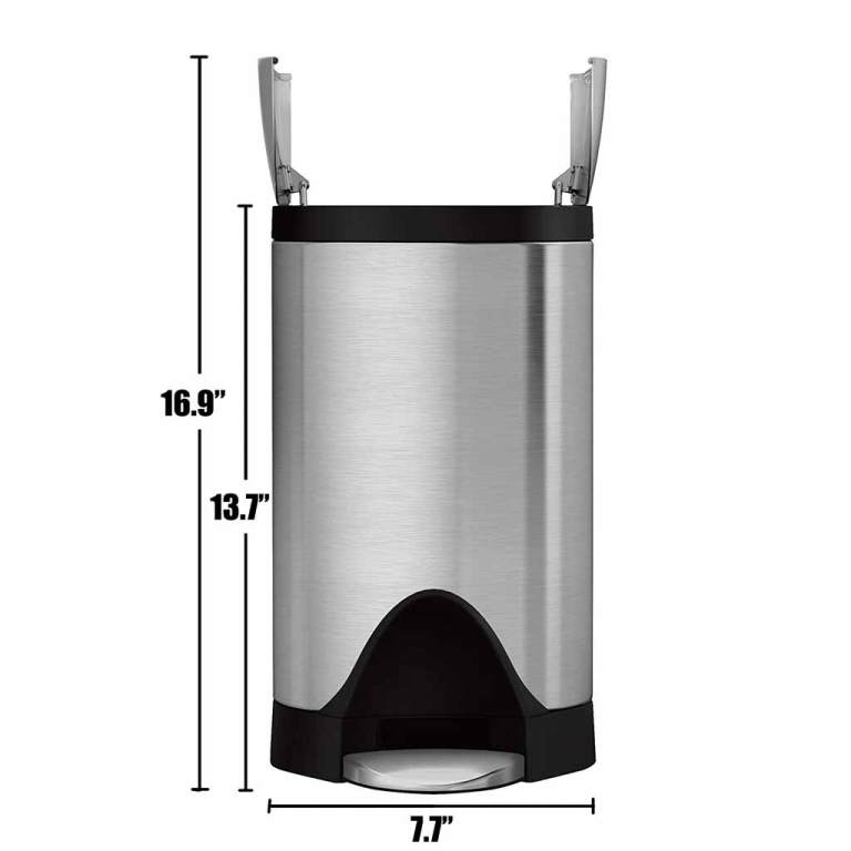 SimpleHuman-2-6-Gallon-Trash-Can-Butterfly-Lid-Camper-Van-RV-Dimensions