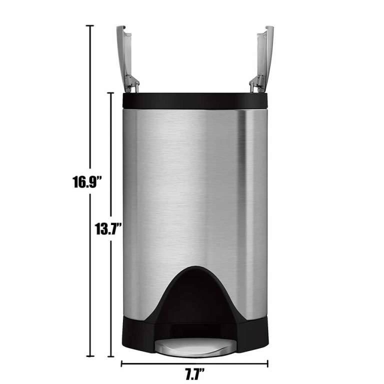 SimpleHuman-2-6-Gallon-Trash-Can-Butterfly-Lid-Camper-Van-RV-Dimensions